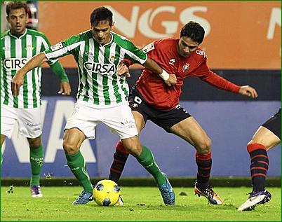 El Osasuna - Betis estrenará nuevo horario