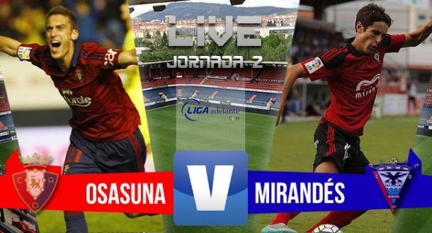 Resultado Osasunavs Mirandés enLiga Adelante 2015 (1-0)
