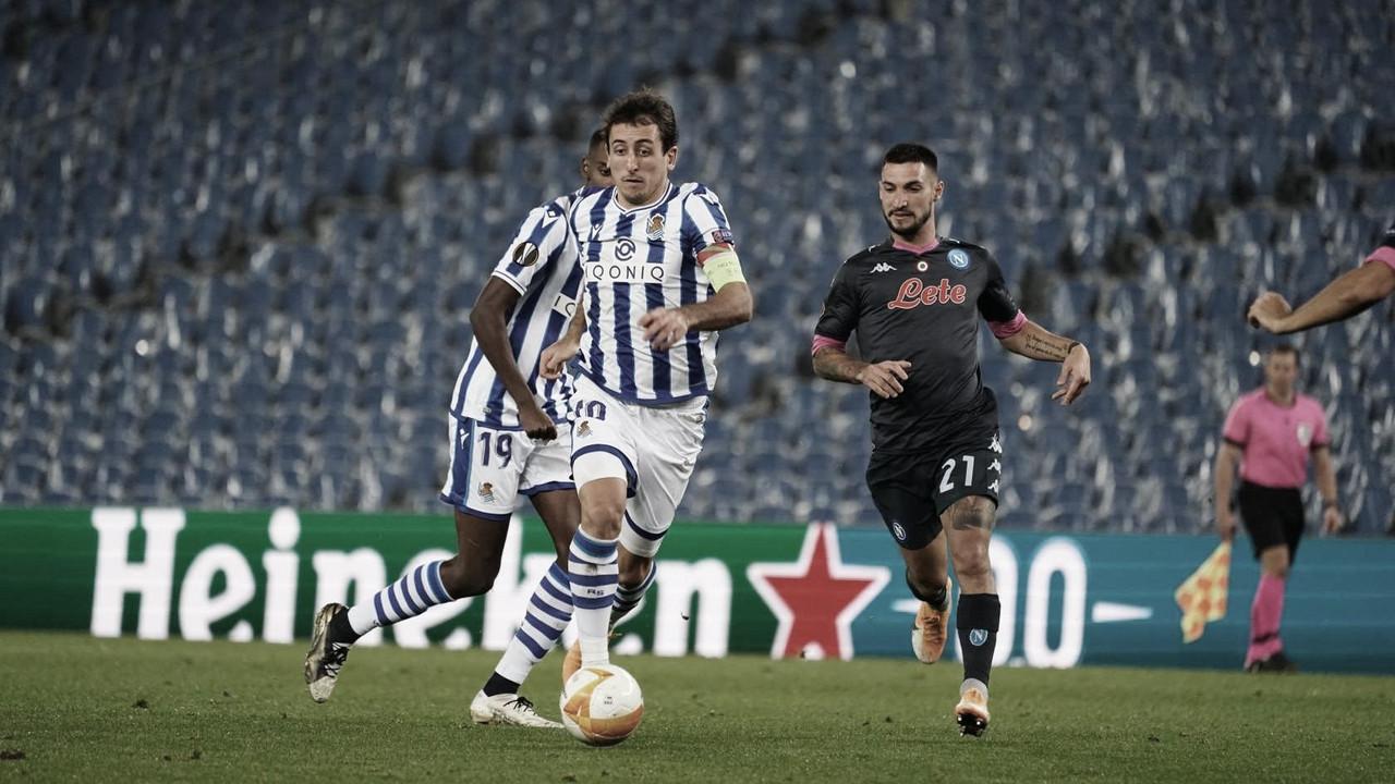 Oyarzabal cabalga hacia la meta rival | Foto: Real Sociedad