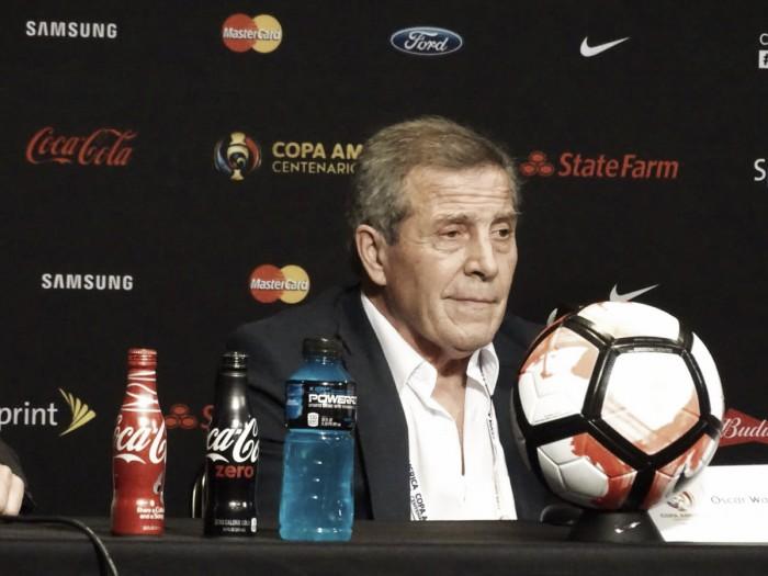 Álvaro Pereira e Óscar Tabárez elogiam desempenho do Uruguai contra México