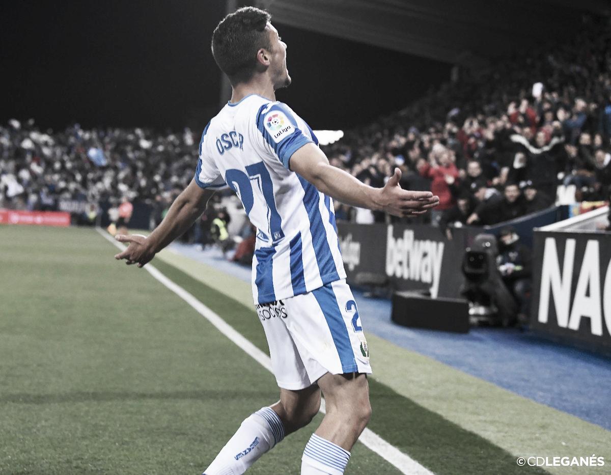 Óscar Rodríguez salva un gris partido del Leganés