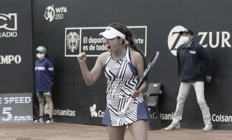 Brilla en EEUU: María Camila Osorio ganó en primera ronda del WTA Charleston