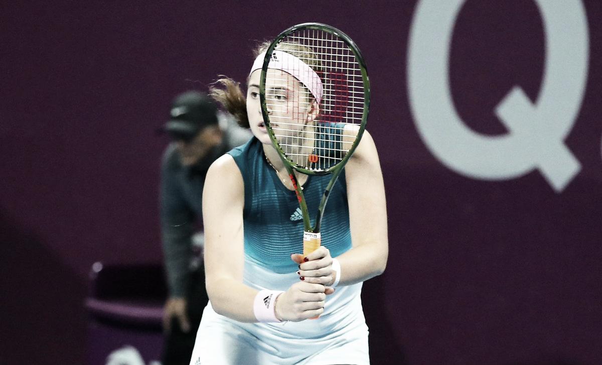 Ostapenko elimina Buzarnescu na primeira rodada de Doha