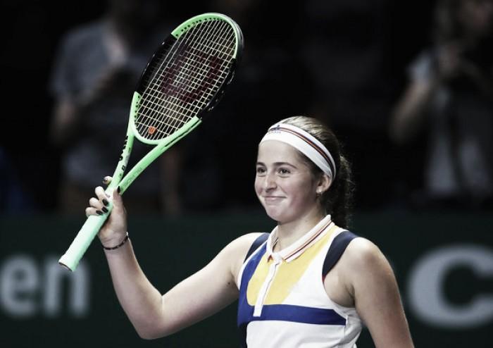 WTA Finals: Jelena Ostapenko ends her season with an impressive win over Karolina Pliskova
