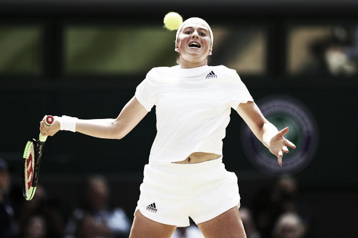 Feliz com performance apesar de eliminação,Ostapenko comemora campanha em Wimbledon