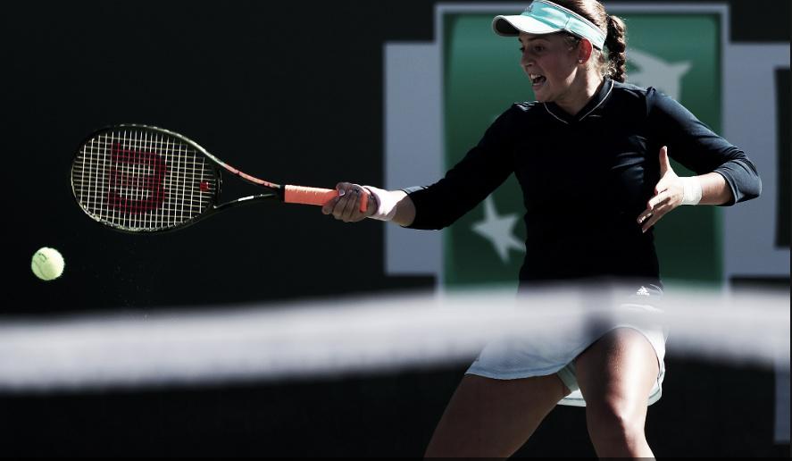 Ostapenko supera Zhang de forma convincente e avança em Indian Wells