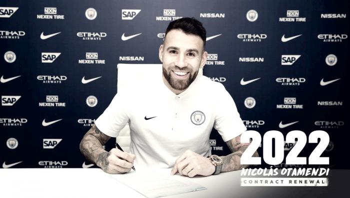 Nicolás Otamendi renueva con el City hasta 2022