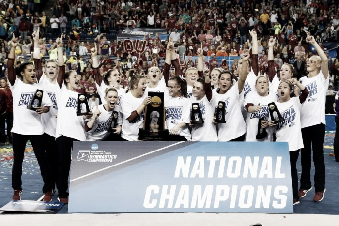 NCAA Women's Gymnastics Championships Super Six Team Finals: Oklahoma caps off dominant season, wins second national title