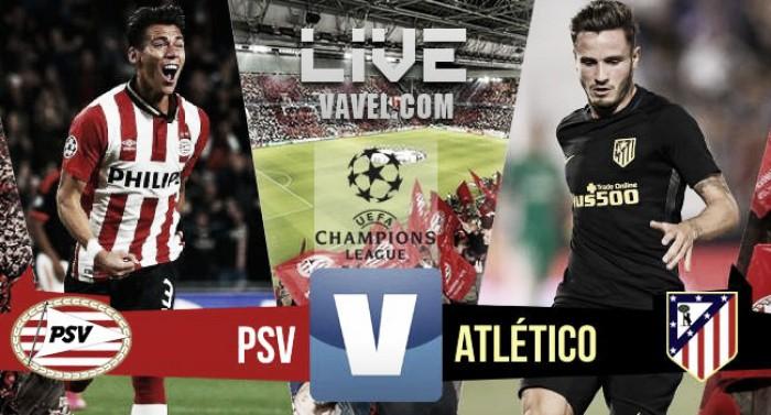 Risultato PSV 0-1 Atletico Madrid in Champions League 2016/17: Saul regala la vittoria
