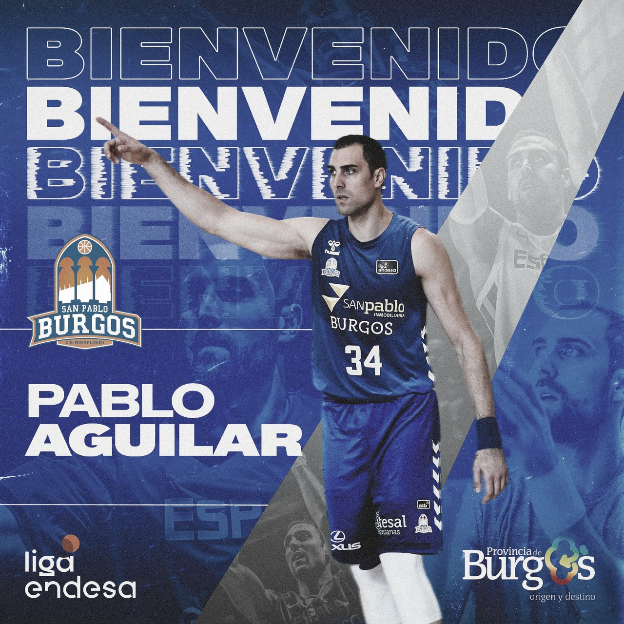 San Pablo Burgos ficha a Pablo Aguilar para la Fase Final