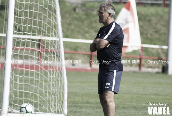 Paco Herrera satisfecho tras la victoria contra el Pontevedra