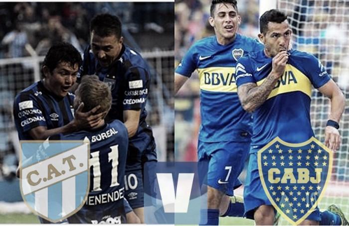 Resultado y goles Atlético Tucumán vs Boca en Torneo Independencia 2016 (2-2)