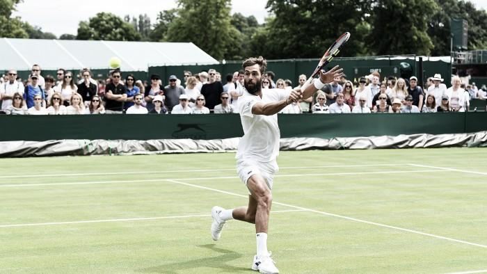 Rogerinho faz bom jogo mas perde para francês na estreia em Wimbledon
