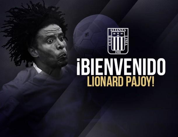 Lionard Pajoy fue anunciado como nuevo refuerzo de Alianza Lima
