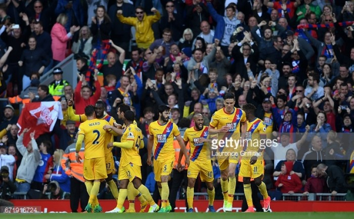 Liverpool 1-2 Crystal Palace: Benteke brace halts Reds' top four charge