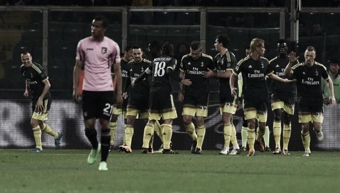 Un passo indietro per il Palermo, rosanero dominati dal Milan