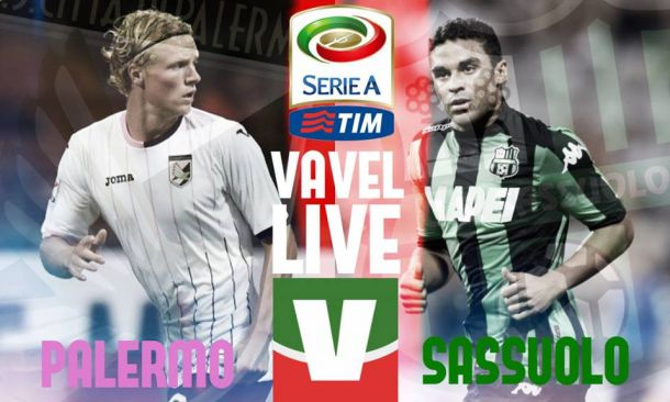 Live Palermo - Sassuolo, risultato partita Serie A 2015/16  (0-1)