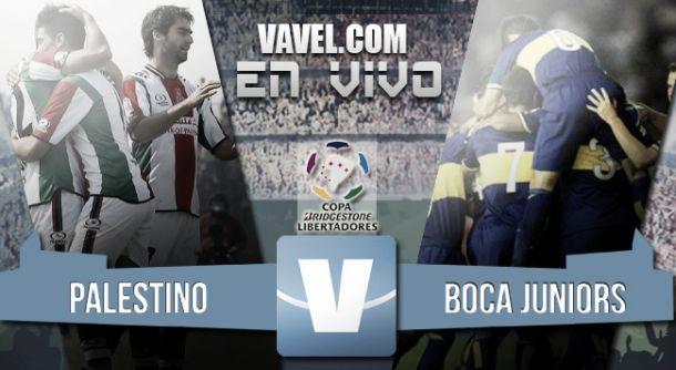 Resultado Palestino - Boca Juniors por Copa Libertadores 2015  (0-2)