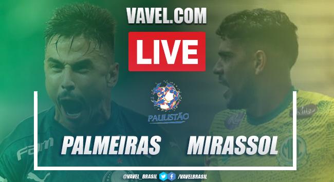 Gols e melhores momentos para Palmeiras 1 x 2 Mirassol pelo Campeonato Paulista