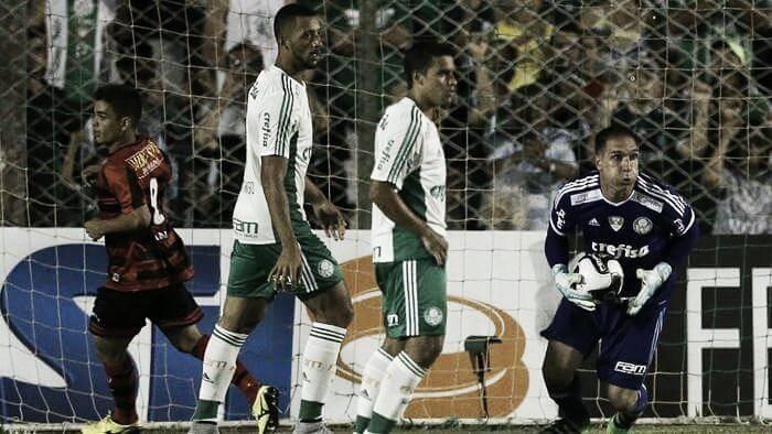 Em jogo pouco movimentado, Oeste e Palmeiras pecam nas finalizações e empatam sem gols
