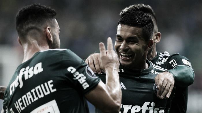 Dudu comemora classificação do Palmeiras na Libertadores e diz não ter preferência por adversário
