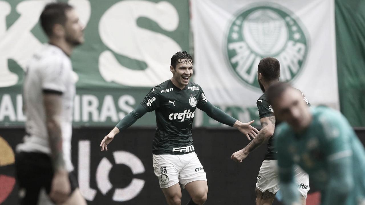 Com três gols em cinco minutos, Palmeiras bate Ceará e fica perto da semifinal da Copa do Brasil