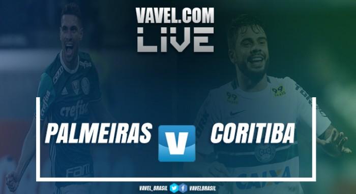 Resultado Palmeiras x Coritiba pelo Campeonato Brasileiro de 2017 (1-0)