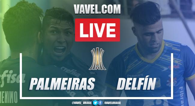Gols e melhores momentos para Palmeiras 5x0 Delfín pela Libertadores