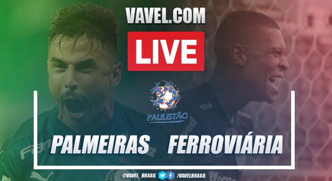 Gols e melhores momentos para Palmeiras 2x0 Ferroviária pelo Campeonato Paulista