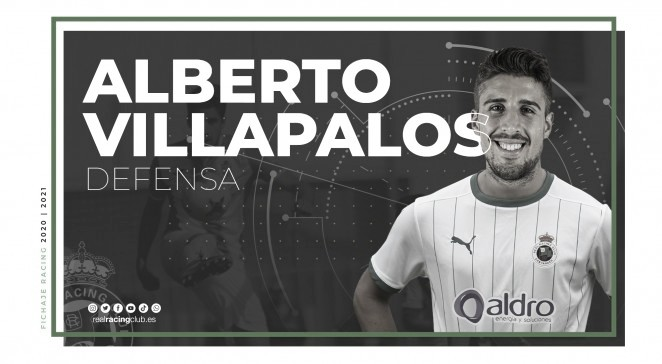 El Racing ficha al defensa Alberto Villapalos. Fotografía; Real Racing Club