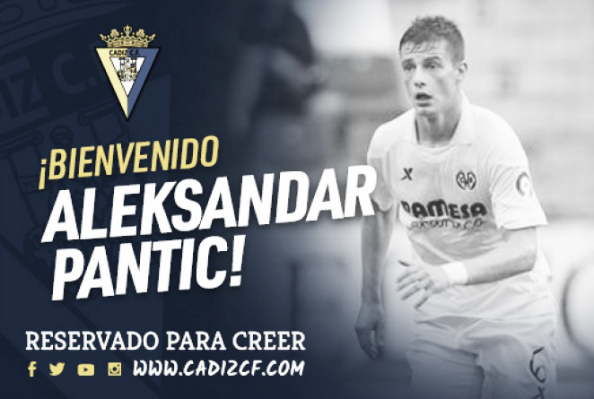El Cádiz CF consigue la cesión de Pantic