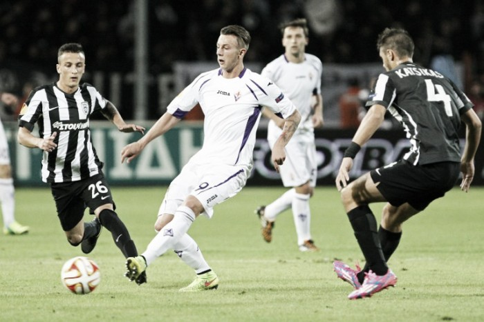 Partita PAOK Salonicco vs Fiorentina in Europa League 2016/17 (0-0)