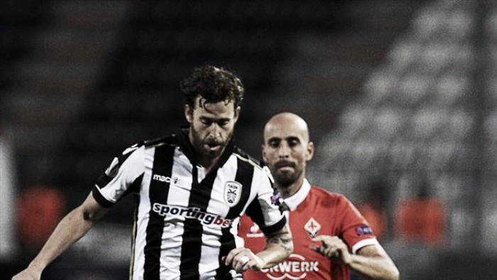 PAOK e Fiorentina criam pouco e protagonizam único jogo sem gols na rodada de abertura da UEL