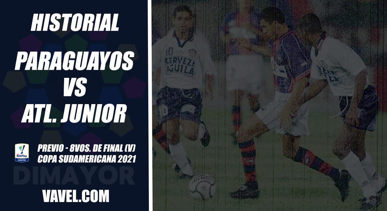 Historial de Junior visitando tierras paraguayas en torneos Conmebol