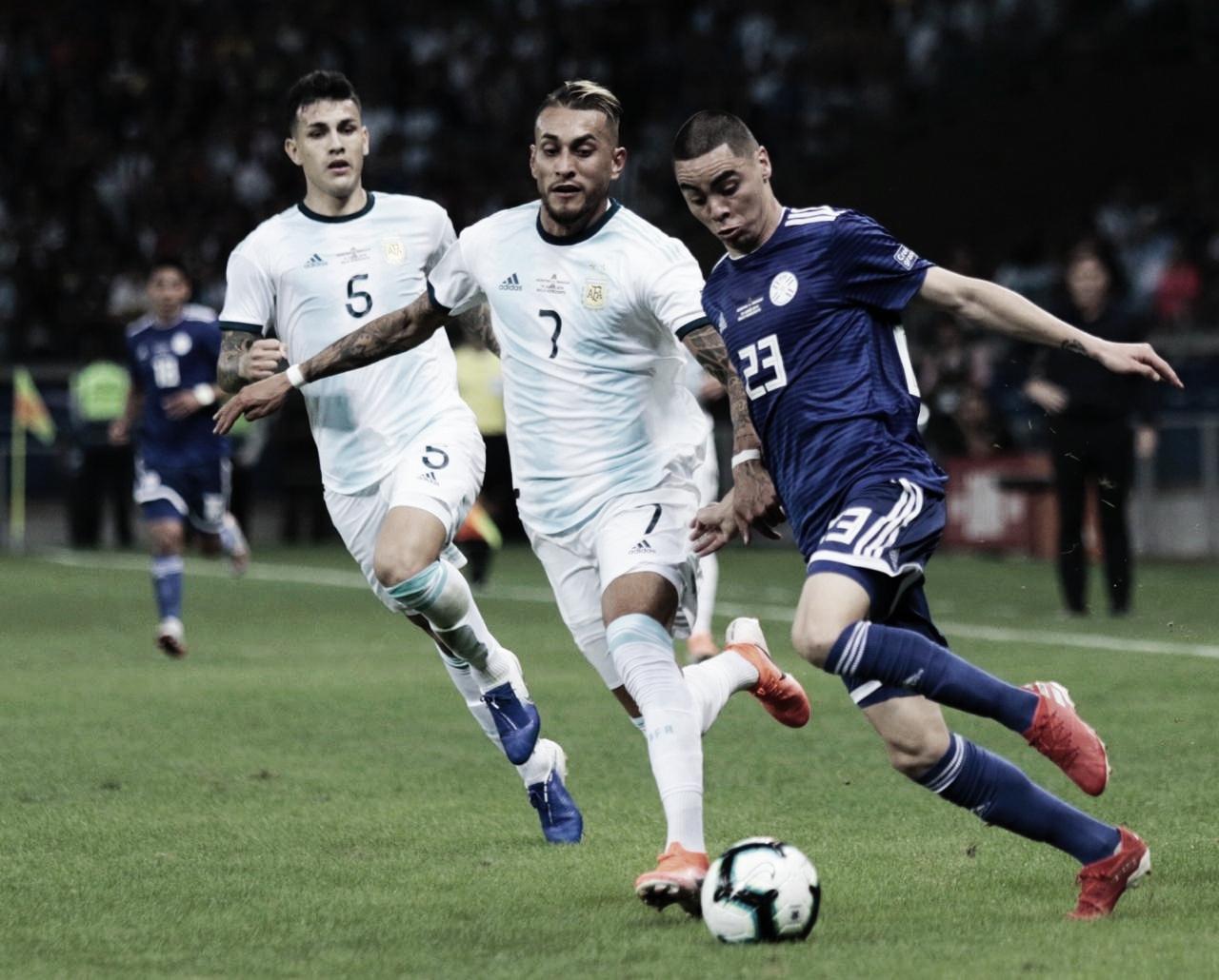 Em jogo truncado, Argentina empata com Paraguai no Mineirão e se complica na Copa América