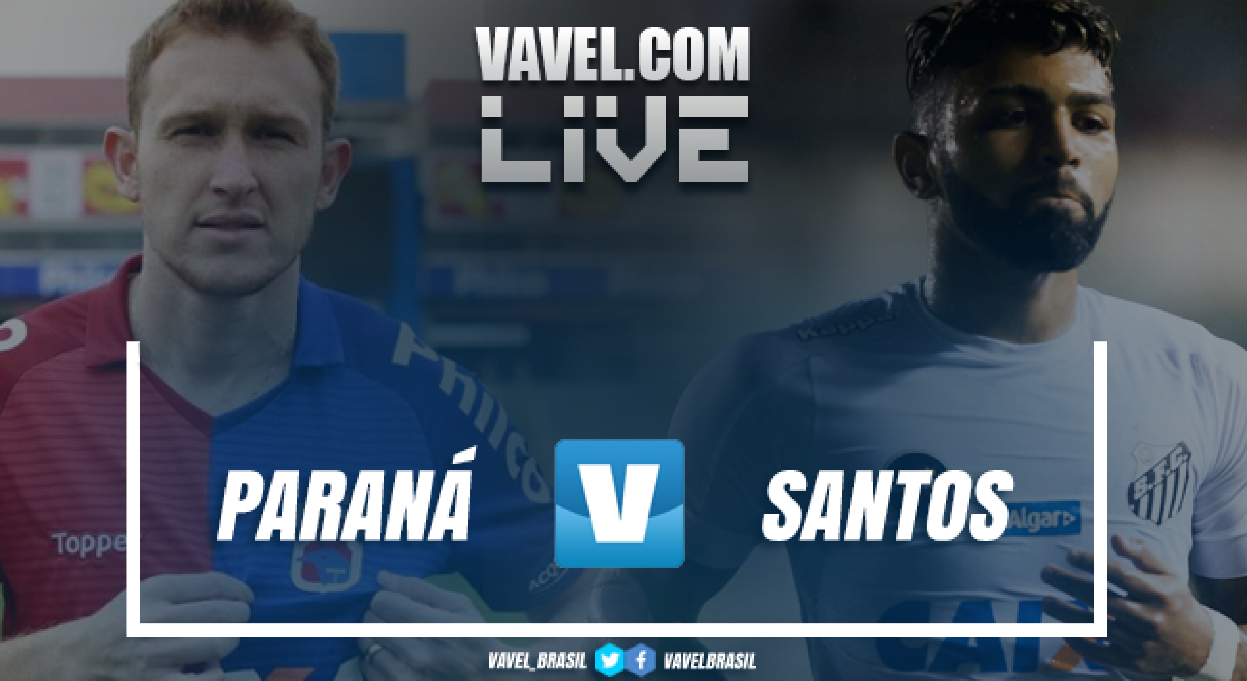 Resultado Paraná 0 x 2 Santos pelo Campeonato Brasileiro 2018