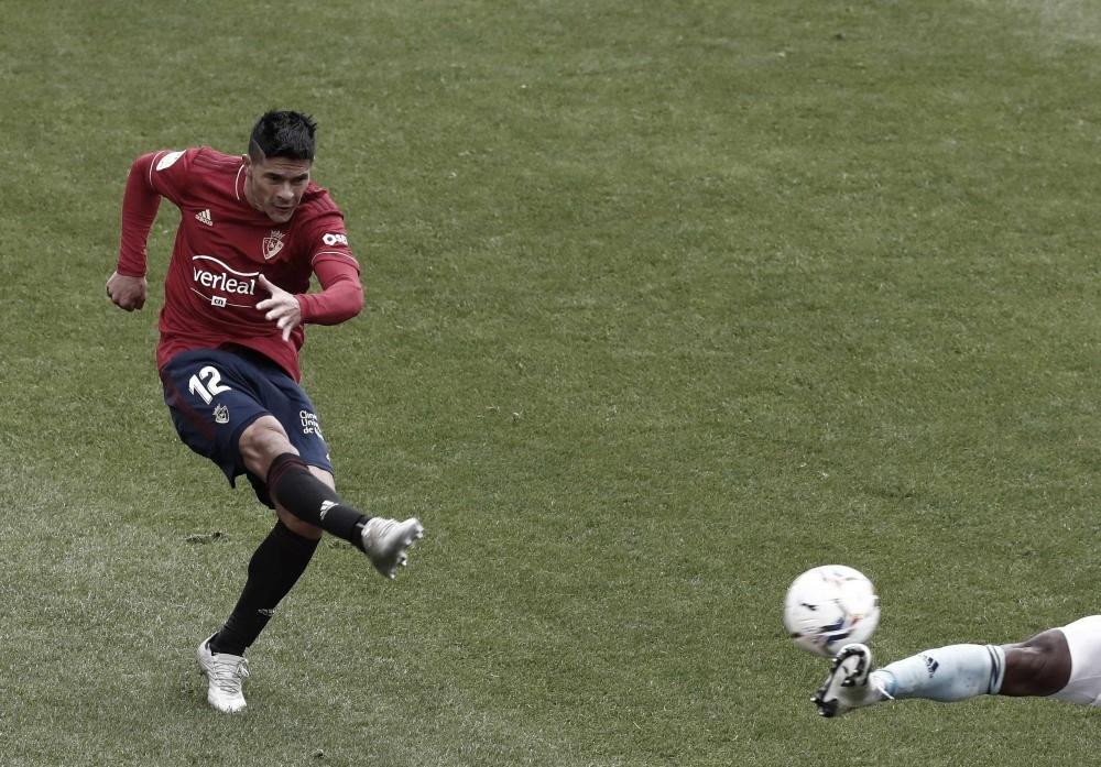Imagen del gol de Osasuna. Fuente: Diario de Noticias.