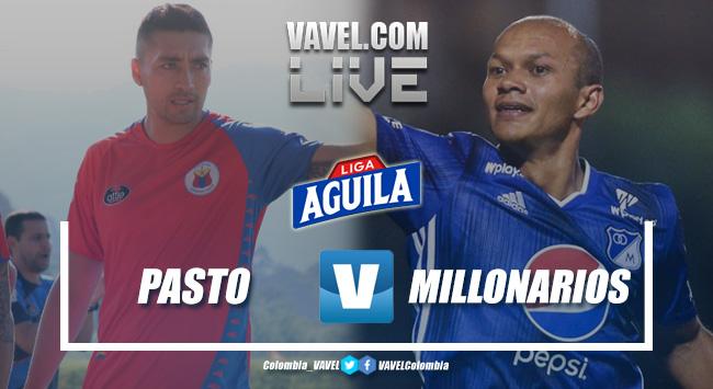 Resultado Deportivo Pasto 1-0 Millonarios por la Liga Águila 2019