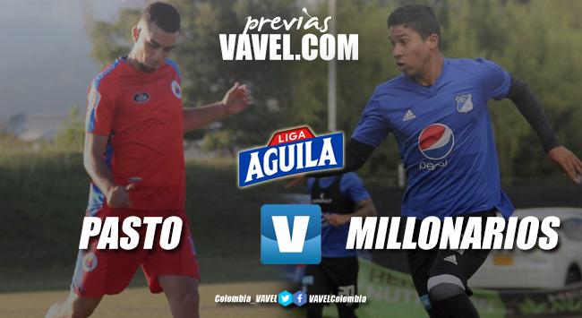 Previa Deportivo Pasto vs Millonarios: el 'azul' quiere mantener el invicto ante el 'tricolor'