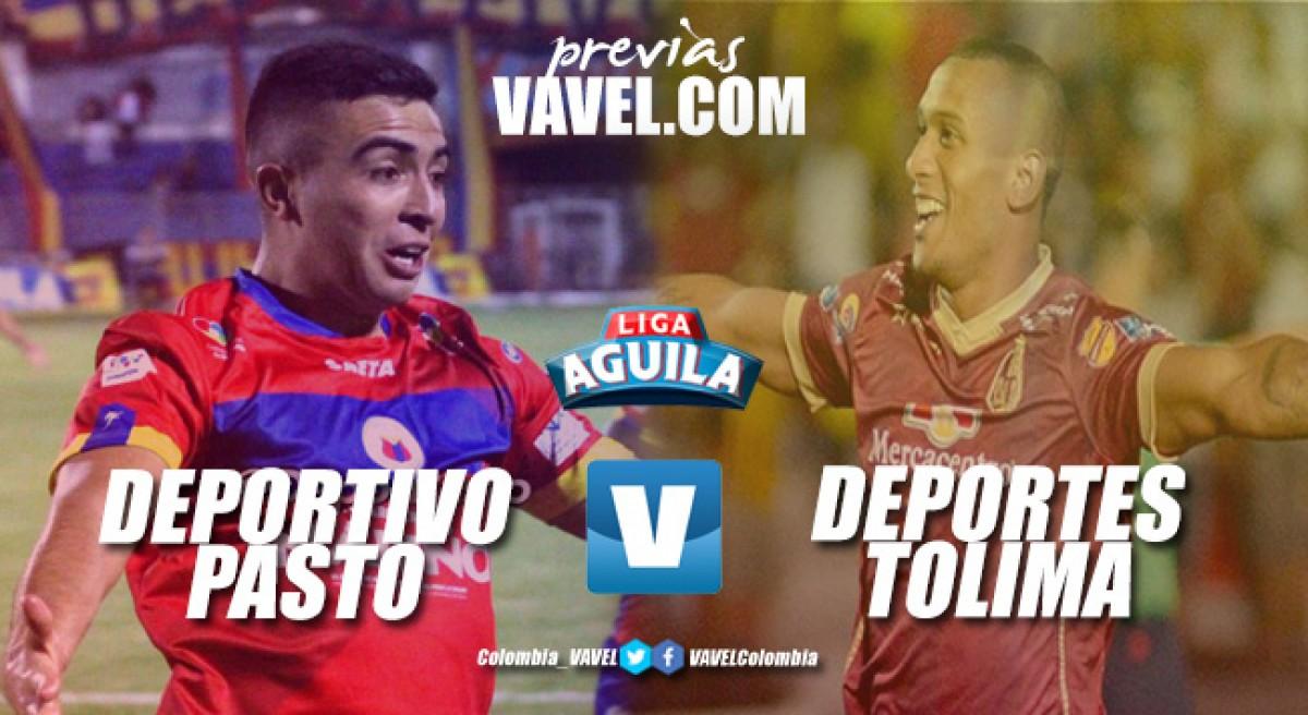 Previa Deportivo Pasto vs Deportes Tolima: enfrentamiento igualado