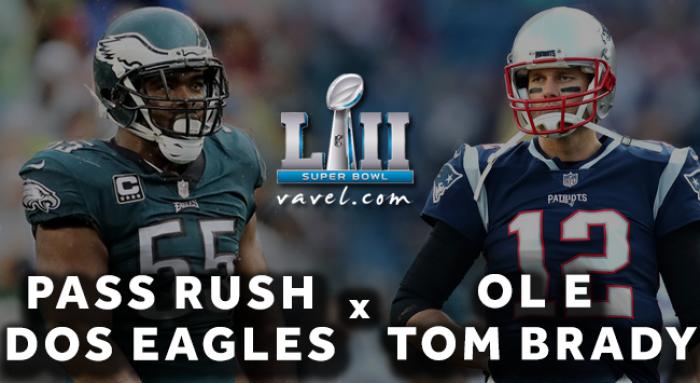 Eagles precisarão confiar mais do que nunca em seu pass rush para pressionar Tom Brady