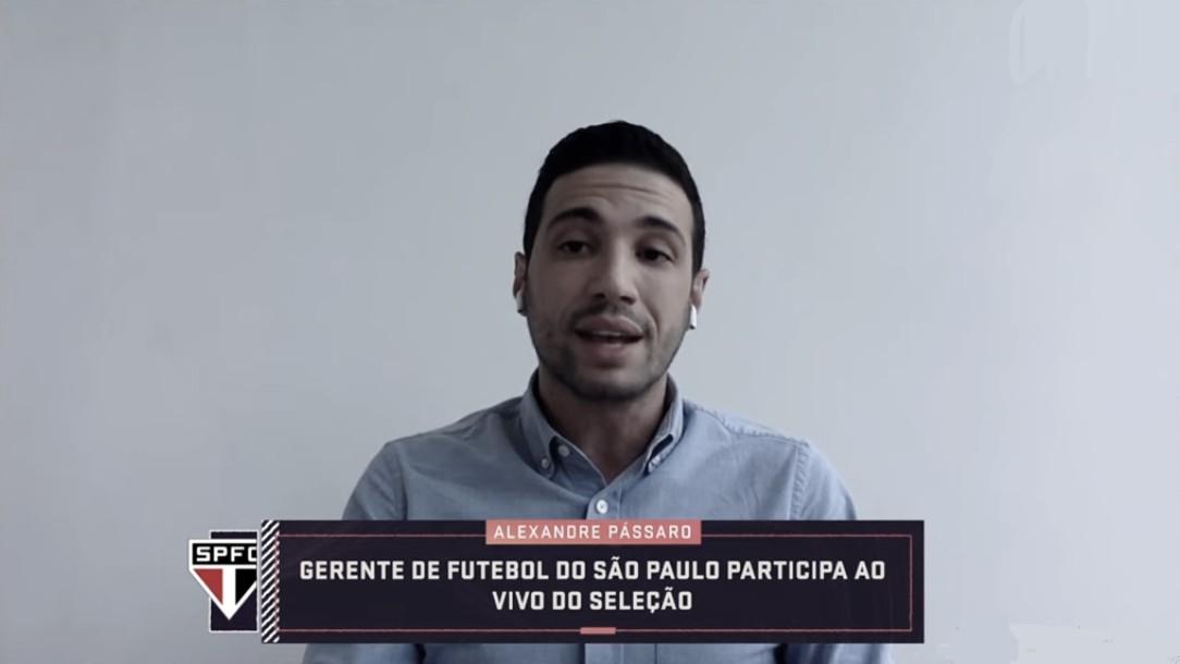 Gerente-executivo do São Paulo, Alexandre Pássaro detalha relação da diretoria com Fernando Diniz