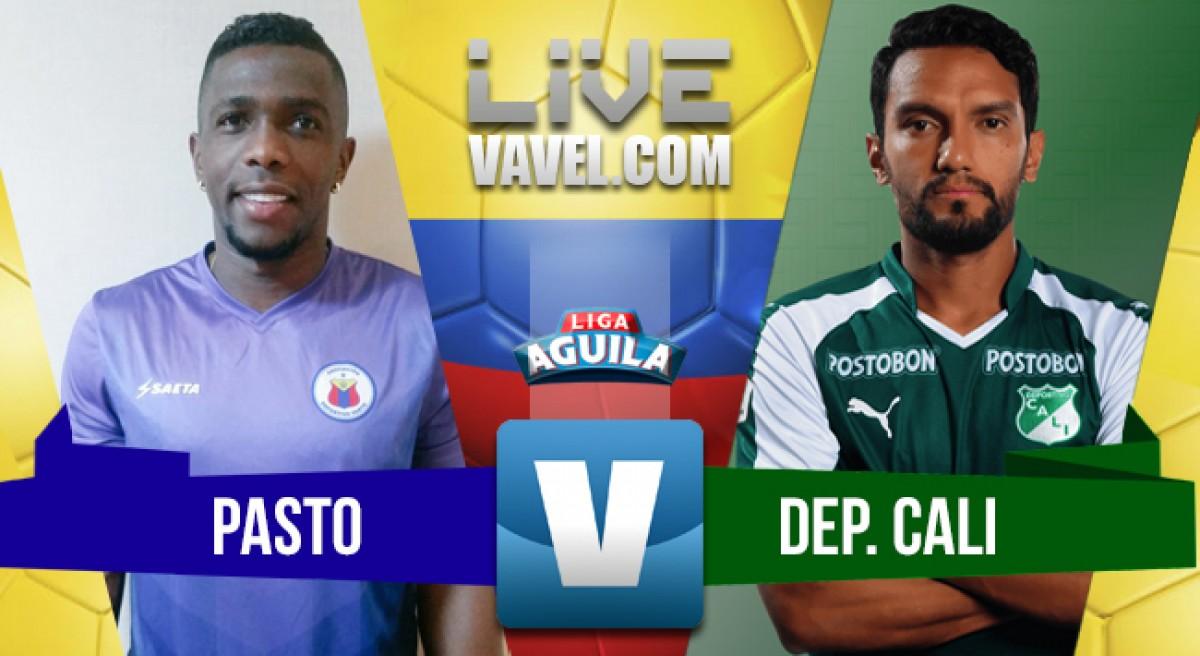 Deportivo Pasto vs Deportivo Cali en vivo y en directo online por la Liga Águila 2018-I (0-0)