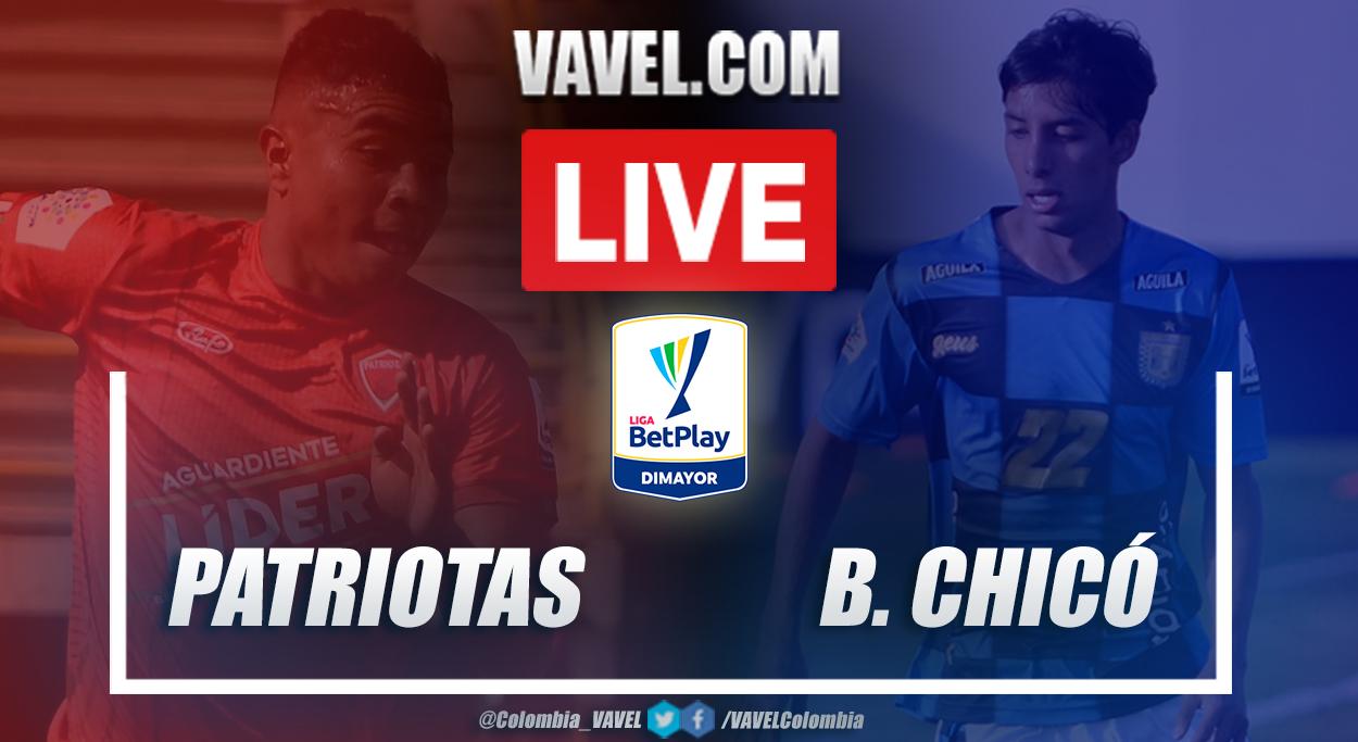 Resumen y goles: Patriotas (1-1) Boyacá Chicó por la fecha 3 de la Liga BetPlay 2021-I