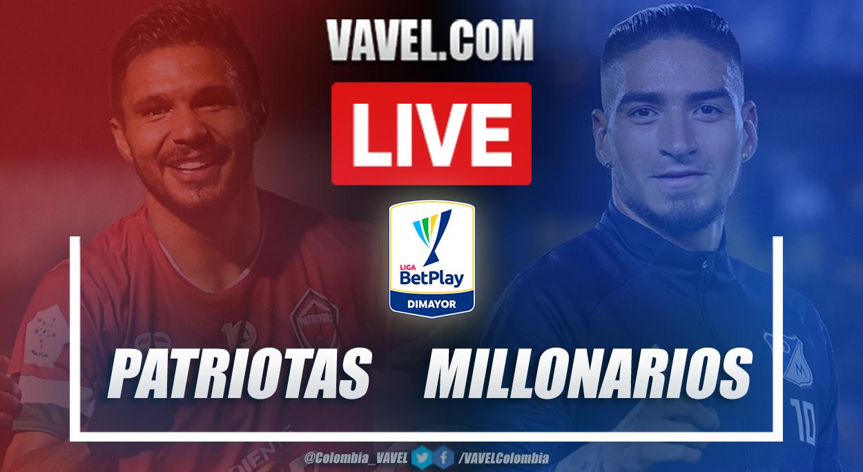 Resumen Patriotas vs Millonarios (0-2) en la fecha 12 por Liga BetPlay 2021-I