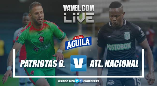 Resumen Patriotas Boyacá vs Atlético Nacional por Liga Aguila 2019-II (1-2)