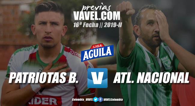 Previa Patriotas Boyacá vs. Atlético Nacional: tres puntos de 'oro' en juego