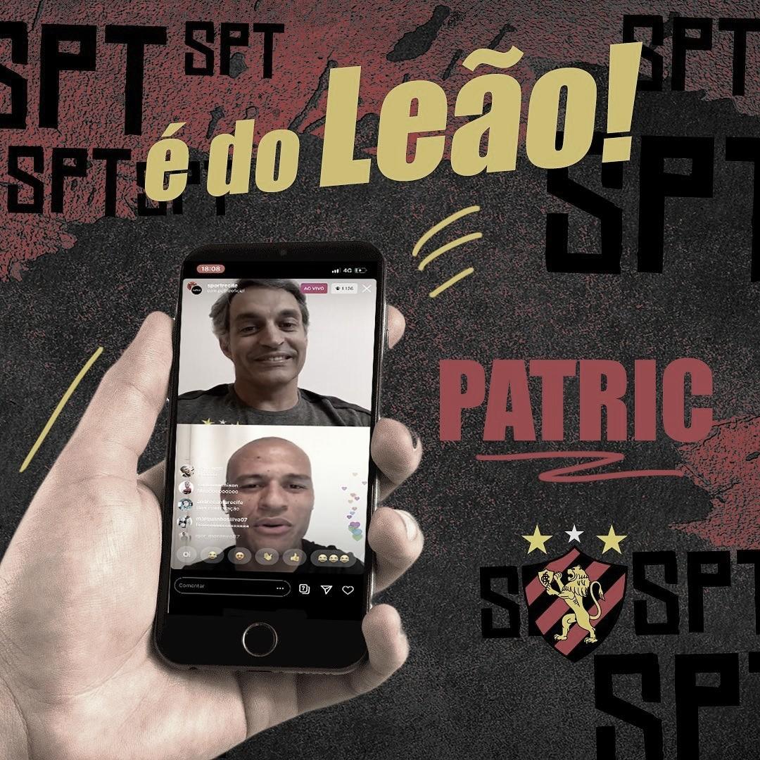 De volta à Ilha! Lateral-direito Patric rescinde contrato com Atlético-MG e retorna ao Sport