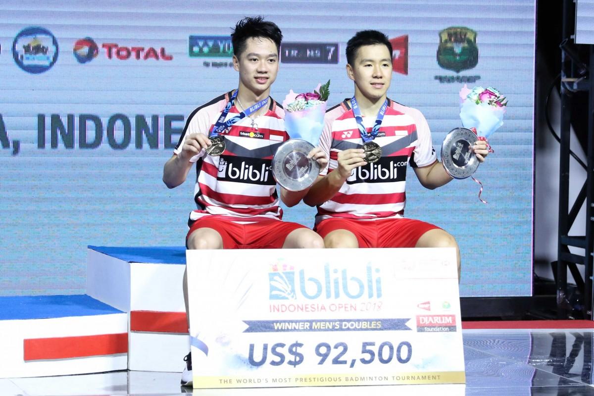Indonesia Rebut Dua Gelar di Indonesia Open 2018