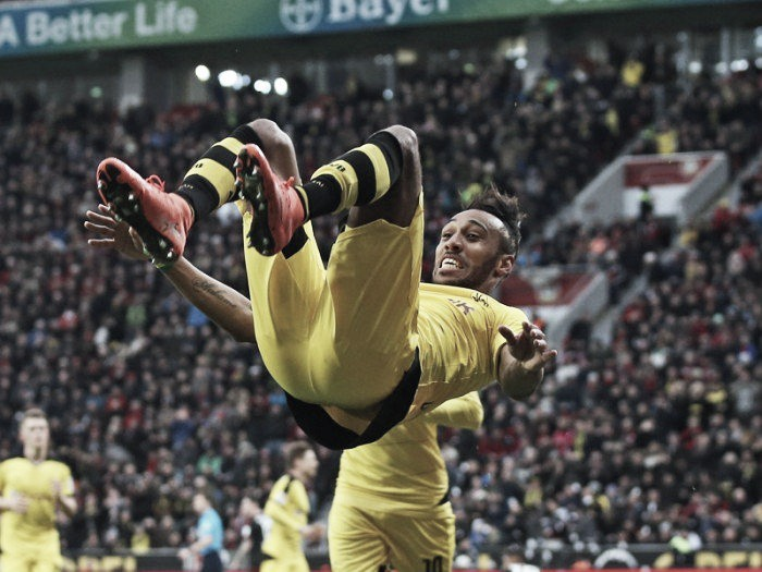 Bayer Leverkusen 0-1 Borussia Dortmund: Controversy filled second half sees Aubameyang fire in the winner